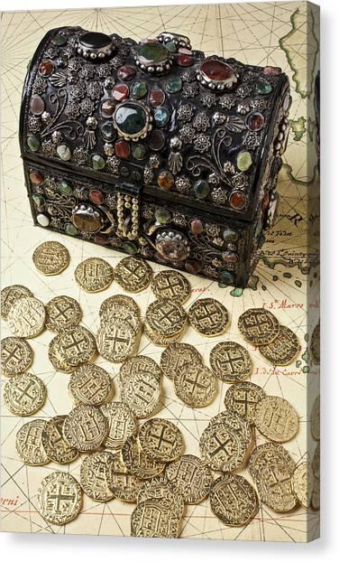 Treasure Box Canvas Print - Fancy Treasure Chest  by Garry Gay
