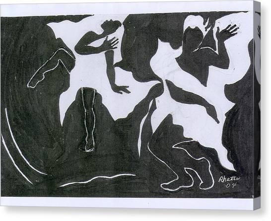 Fantasy Dance Canvas Print by Rhetta Hughes