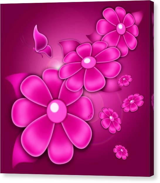Fantasy Floral Canvas Print