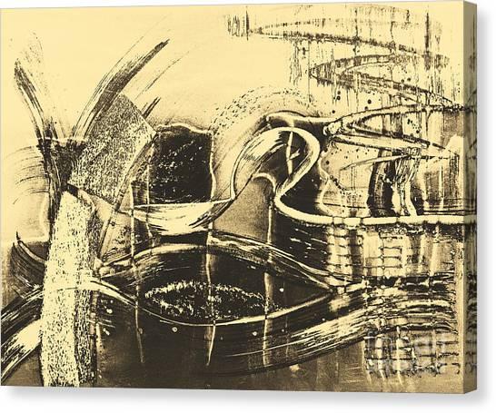 Fantasy In Monotone Canvas Print by Emilio Lovisa