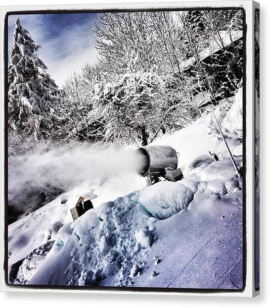 Snowboarding Canvas Print - Fantasy Making Machine! #snow #machine by Robert Campbell