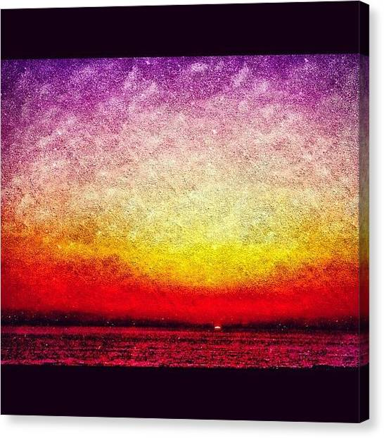 Israeli Canvas Print - Fantasy Sunset by Kim Cafri