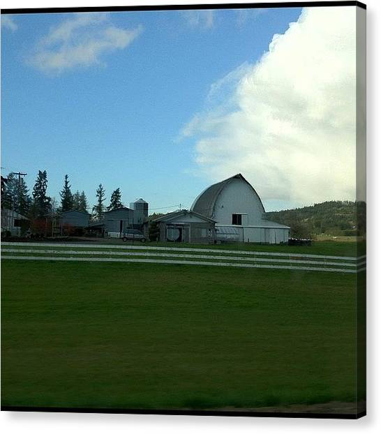 Barns Canvas Print - #farm #barn #blue #sky #oregon by Art Rocha