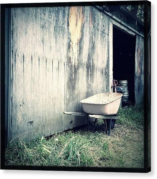 Farmhouse Canvas Print - Farm Barn by Jeff Koromi
