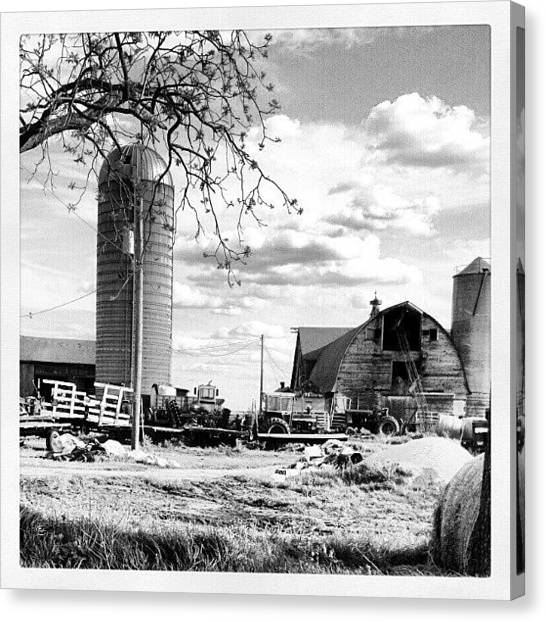 Tractors Canvas Print - #farm #barn #tractor #cloud by Bryan P