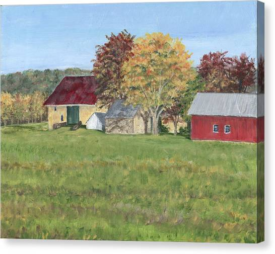 Farm On Ridge Road Canvas Print