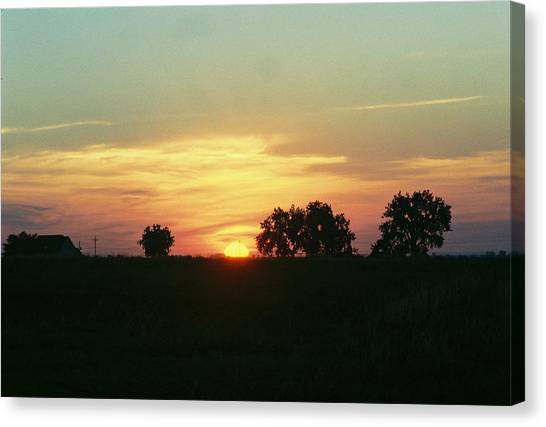 Farm Sunup Canvas Print by Trent Mallett