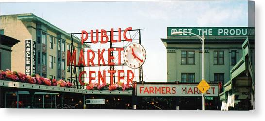 Farmer's Market Canvas Print