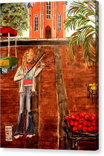 Farmer's Market Fiddler Canvas Print