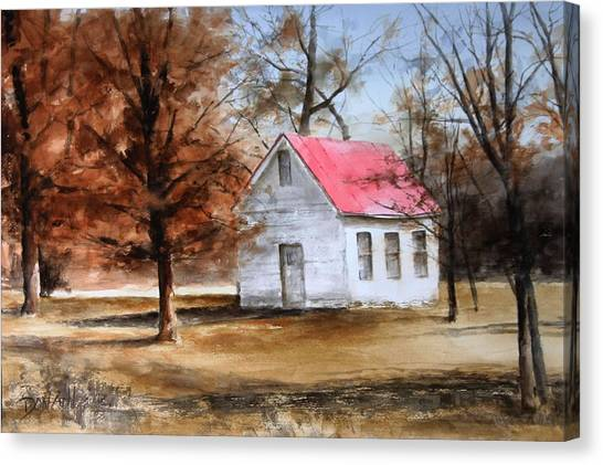 Farmers Ridge School Canvas Print by Don Cull