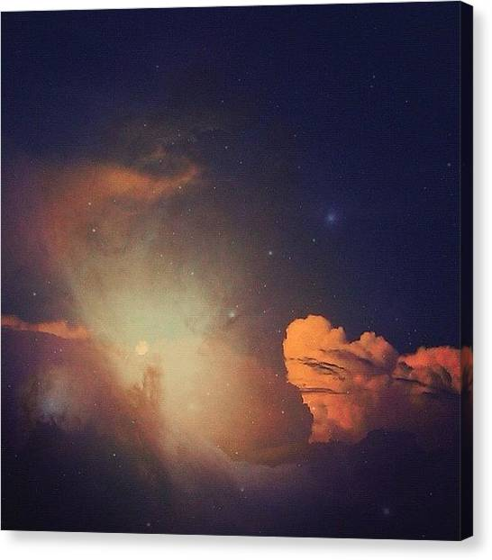 Science Canvas Print - Fascinated By The Universe. #clouds by Cat Noone