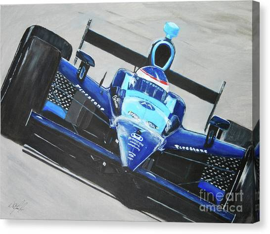Danica Patrick Canvas Print - Fast Girl In Your Face by William Homeier
