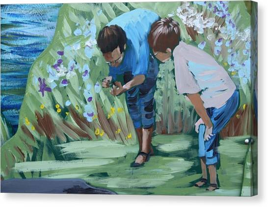 Father And Son Detail Of Spring 1 Canvas Print