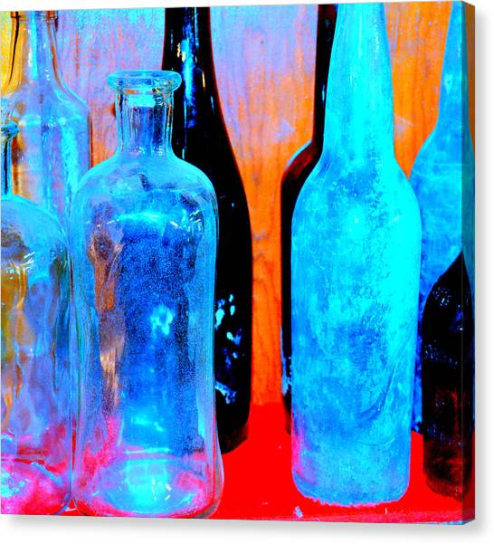 Fauvist Bottles Canvas Print