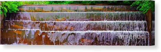 Franklin D. Roosevelt Canvas Print - Fdr Memorial Falls Panoramic by Jim Carrell