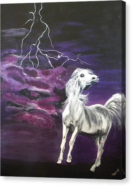 Fear In The Night 2 Canvas Print
