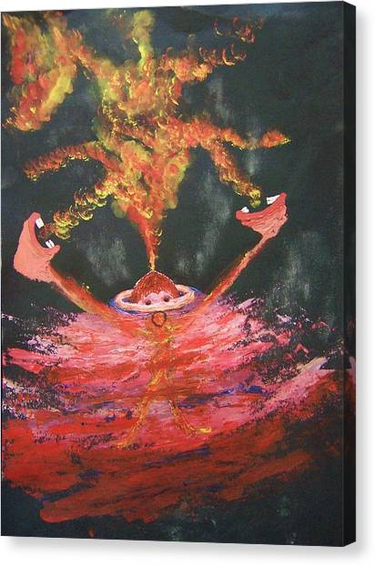Fearless Rage Canvas Print