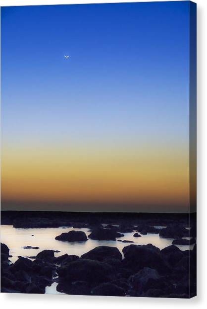 February New Moon Canvas Print