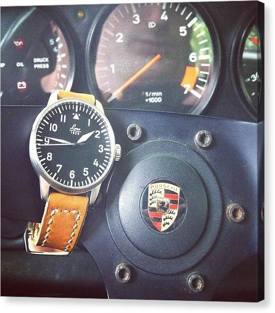 Porsche Canvas Print - Feeling Particular #german Today #laco by Cooper Naitove