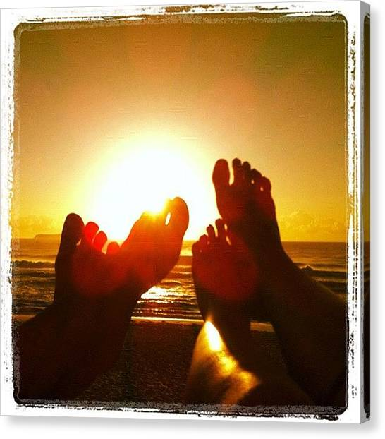 Feet Canvas Print - #feet #sun #sunshine #webinstagram by Avatar Pics