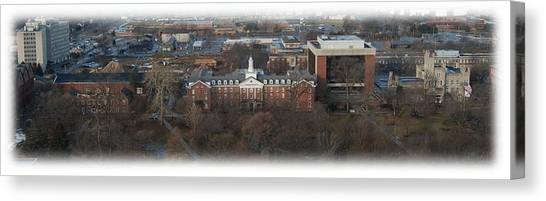 Illinois State University Canvas Print - Fell From Sundeck by Abraham Adams Photography