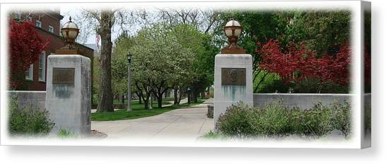 Illinois State University Canvas Print - Fell Gate by Abraham Adams Photography