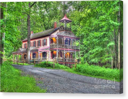 Feltville Historic District Store And Church  Canvas Print by Lee Dos Santos