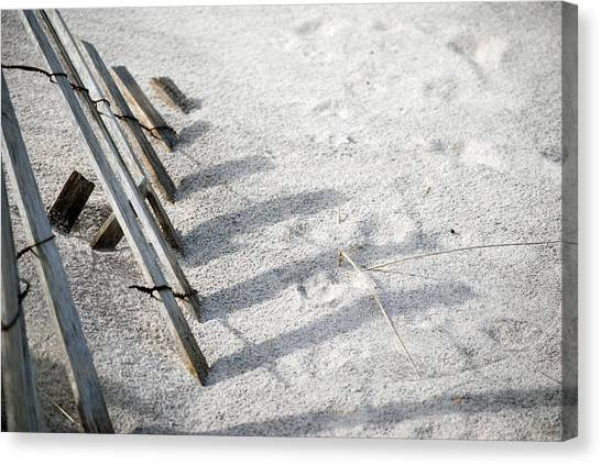 Fence And Shadow Canvas Print