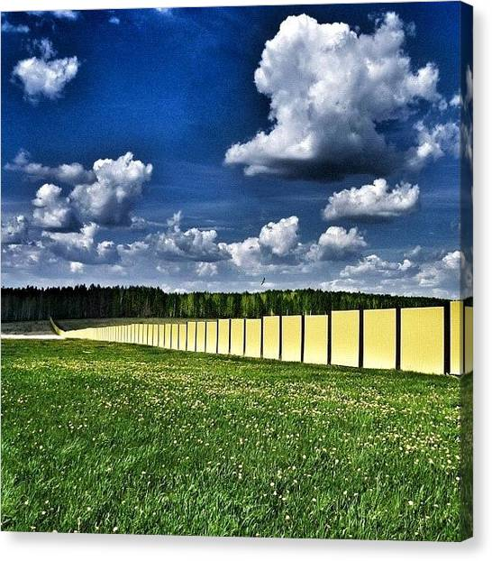 Russia Canvas Print - Fence In The Field. #green #sky by Igor Che 💎