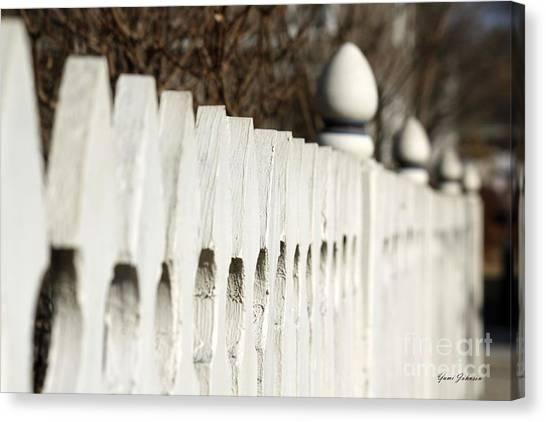 Fence Canvas Print by Yumi Johnson