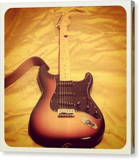 Stratocasters Canvas Print - #fender #strat #stratocaster by Augusto Rosario