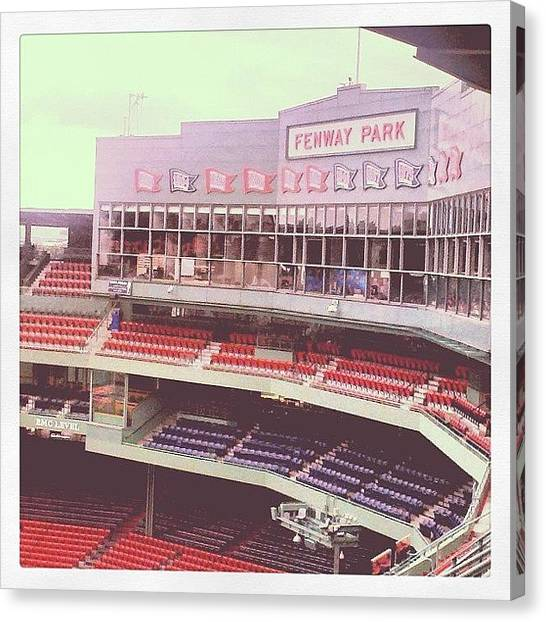 Stadiums Canvas Print - Fenway Park by Rebecca Shinners