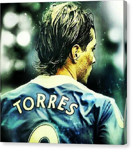 Soccer Players Canvas Print - #fernandotorres #torres #niñotorres by Erick Barba