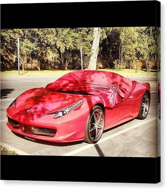 Racing Canvas Print - #ferrari #458italia #2012 #red #top by Omar Chawki