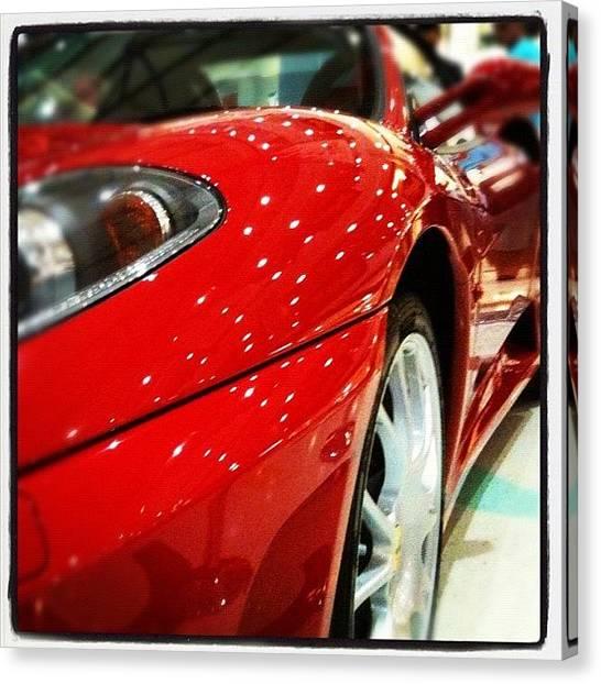 Ferrari Canvas Print - #ferrari #car #sportscar #automobile by Luke Fuda