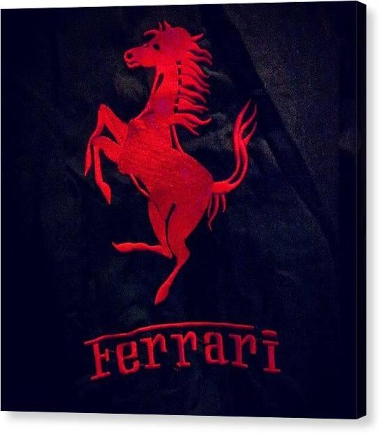 Ferrari Canvas Print - #ferrari #fast #car #brand #red #devil by Shamoon Sabig