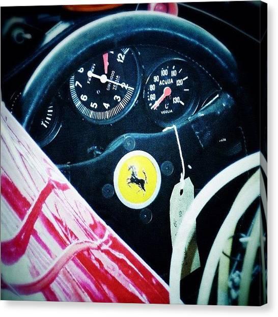 Ferrari Canvas Print - Ferrari #ferrari #classiccar #car by Mark  Thornton