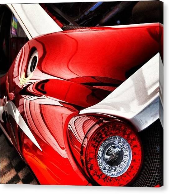 Ferrari Canvas Print - Ferrari Red #cars #sport #motorsport by Robert Campbell
