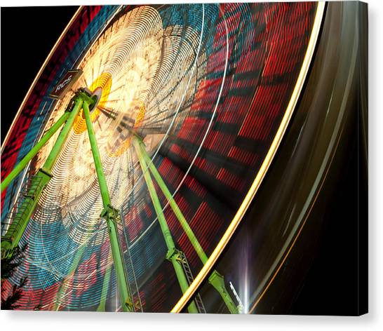 Ferris Wheel At Night Canvas Print