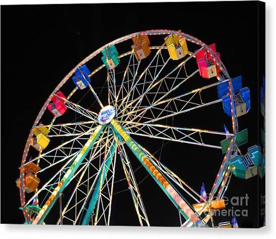 Ferris Wheel II Canvas Print by Heidi Hermes