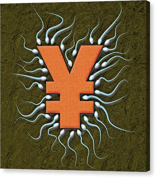 Yen Canvas Print - Fertility Treatment, Conceptual Artwork by Stephen Wood