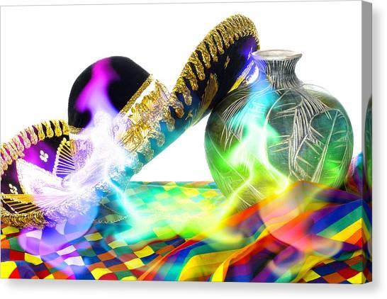 Festive Fiesta Canvas Print by Trudy Wilkerson