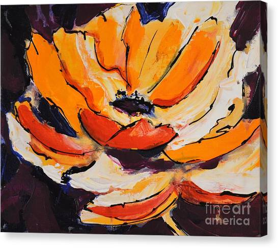 Festive Poppy Canvas Print