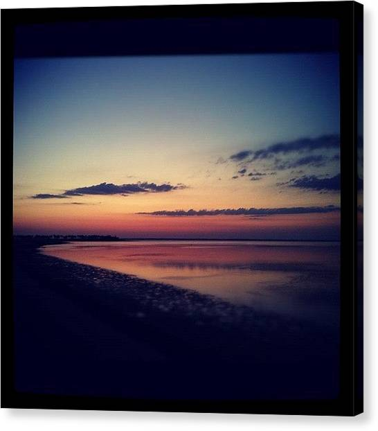 Ocean Sunsets Canvas Print - Fhsunset 6 by Dustin Goolsby