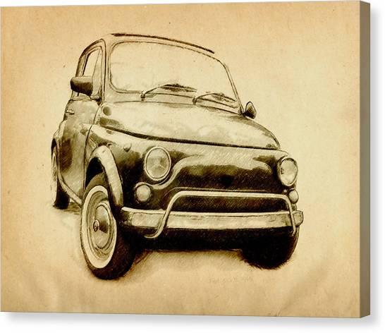 Classic Cars Canvas Print - Fiat 500l 1969 by Michael Tompsett