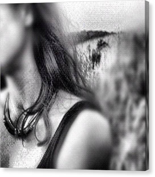Shoulders Canvas Print - #field #shoulder #hair #woman by K Giantonio