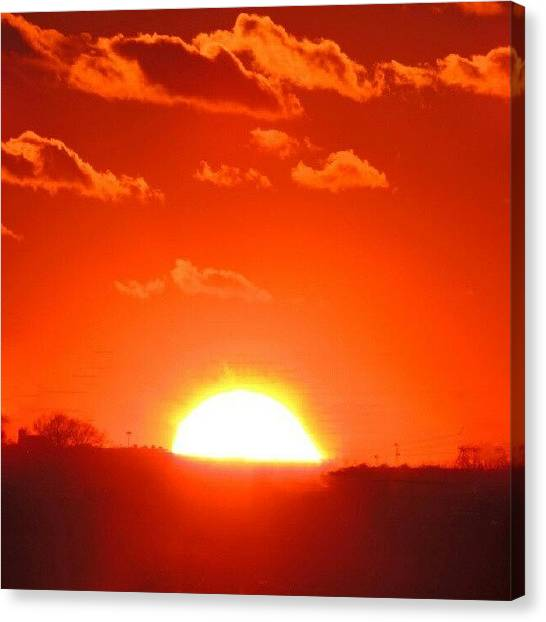 Trucks Canvas Print - Fiery Night Sky by Kelli Stowe
