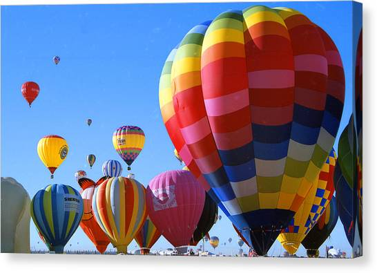 Fiesta Balloons Canvas Print by Les Walker