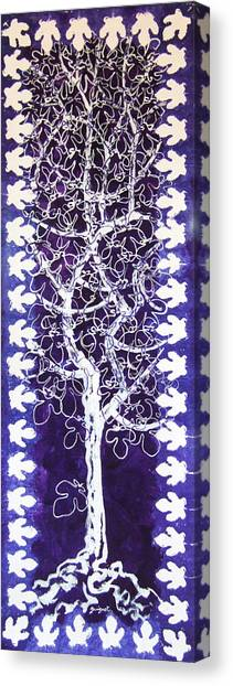 Fig Tree And Moonlight Canvas Print by Alain Guiguet
