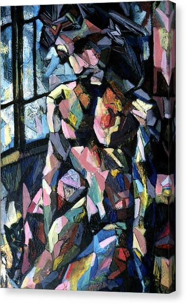 Figure With Cat Canvas Print